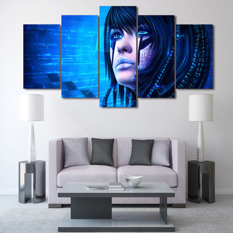Sci Girl 5 Piece Canvas