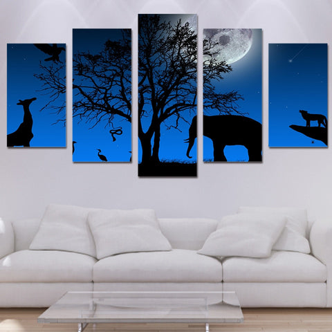 The Animals 5 Piece Canvas