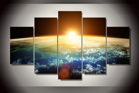 Sunrise on Earth 5 Piece Canvas