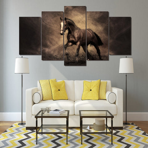 Dusty horse 5 Piece Canvas