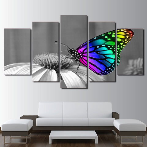 Colorful Butterfly 5 Piece Canvas