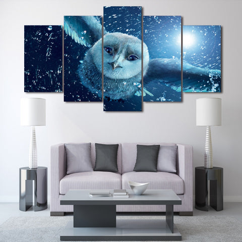 Winter Owl 5 Piece Canvas