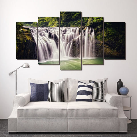 Mystic Waterfall 5 Piece Canvas