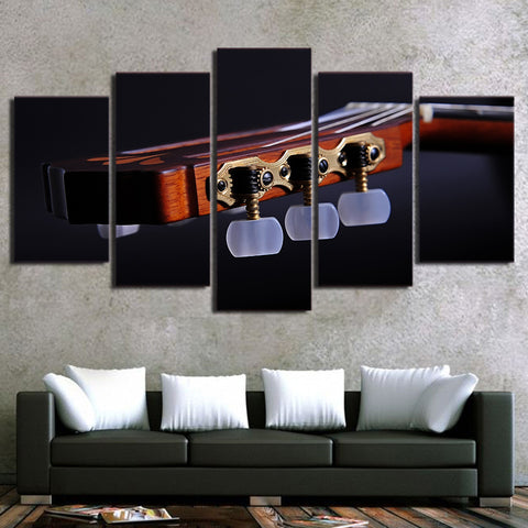 Guitar Pegs 5 Piece Canvas