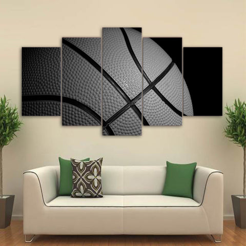 Basketball 5 Piece Canvas