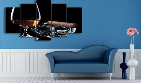 Blackjack Cigar 5 Piece Canvas
