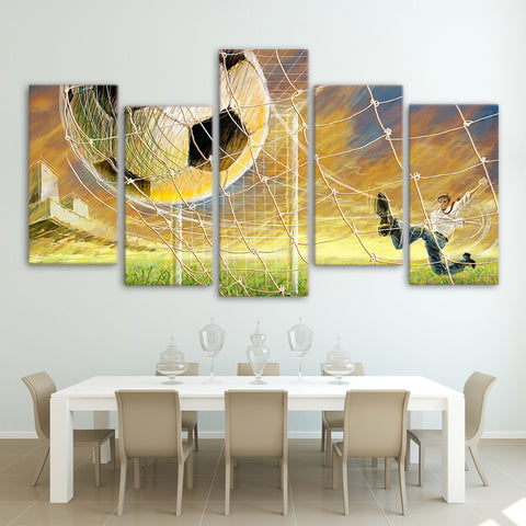 Football Net 5 Piece Canvas