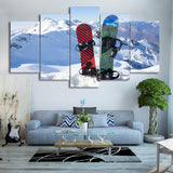 Ice Mountain Skiing 5 Piece Canvas