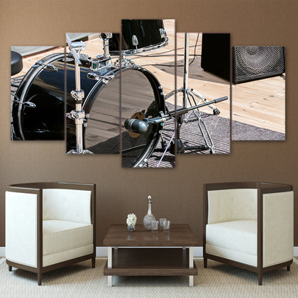 Modern Rock Music Drums 5 Piece Canvas