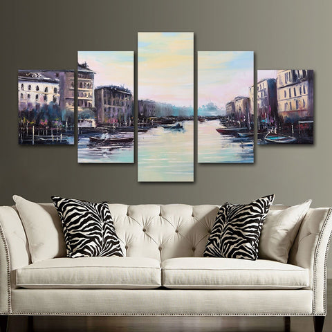 Beachfront Venice 5 Piece Canvas