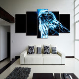 Glowing Eagle 5 Pieces Canvas