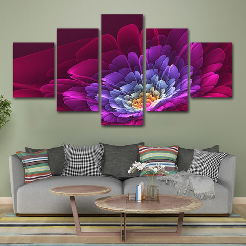 Colorful Blossom Flower 5 Piece Canvas