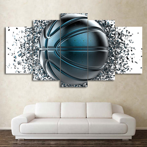 Disintegration Basketball 5 Piece Canvas