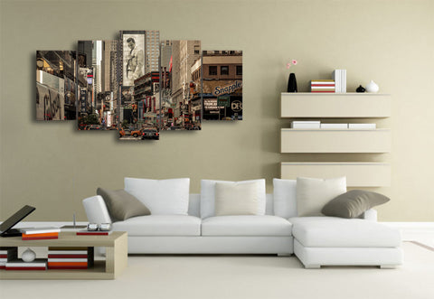 The Crossroads of the World 5 Piece Canvas