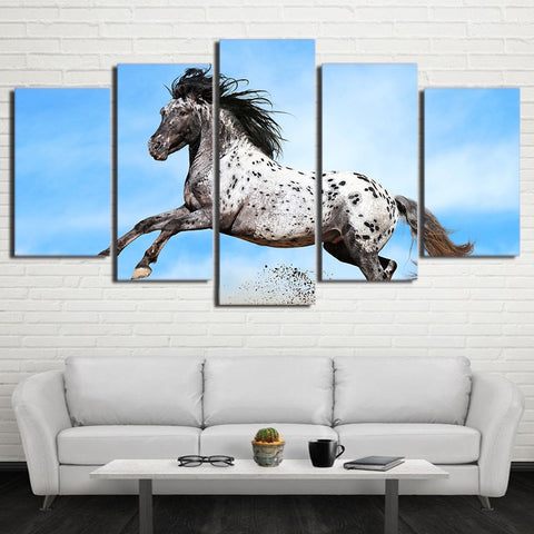 Running Dotted Horse 5 Piece Canvas