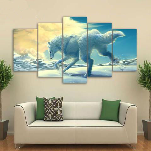 Everest Snow Running 5 Piece Canvas