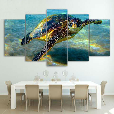 Deep Ocean Turtles 5 Piece Canvas