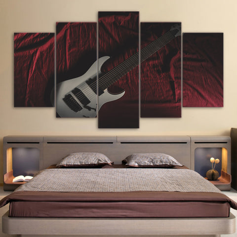 White Music 5 Piece Canvas
