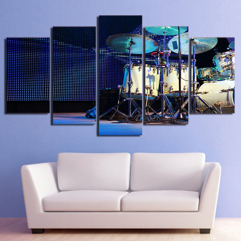 Set of Drum in Stage 5 Piece Canvas
