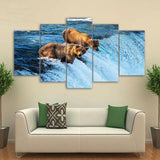 Bear River 5 Piece Canvas