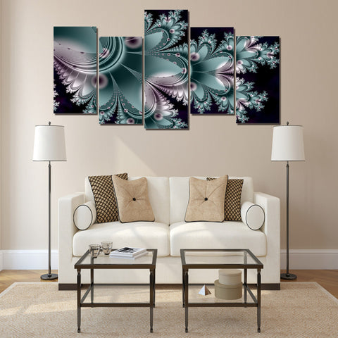 Thorny Flowers 5 Piece Canvas