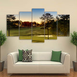Green Golf Course 5 Piece Canvas