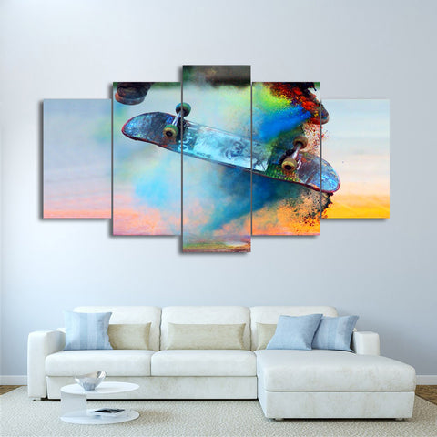 Color Skateboard Energetic 5 Piece Canvas