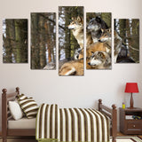 Wolf Pack Awareness 5 Piece Canvas