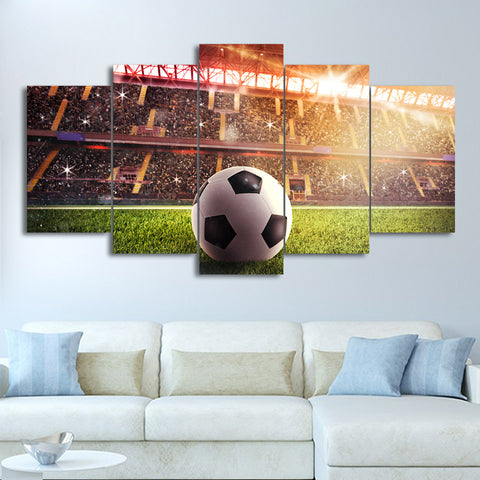 Football Field Victory 5 Piece Canvas