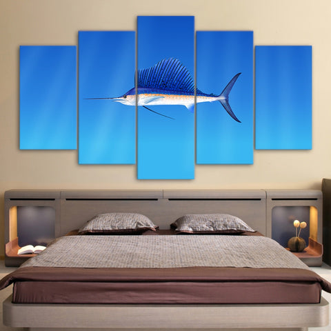 Marlin Fish 5 Piece Canvas