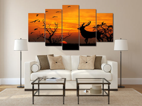 Fantasy Sunset Group 5 Piece Canvas