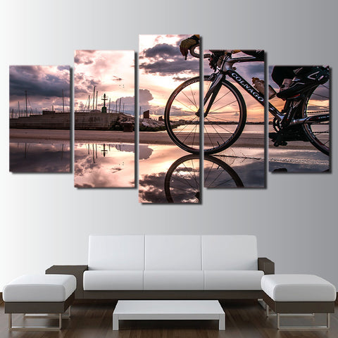 Bicycle Sunshine Cycling 5 Piece Canvas