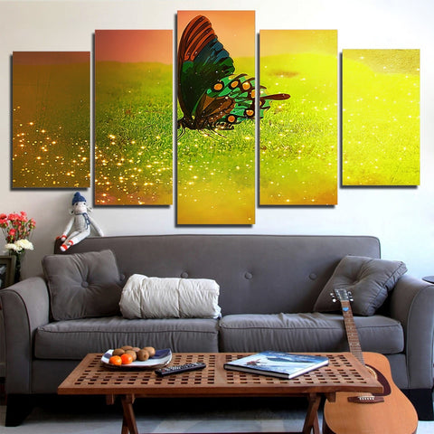 Beautiful Butterfly 5 Piece Canvas