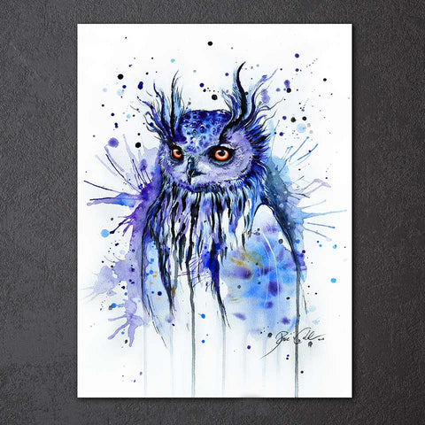 Purple Eagle by Pixie Cold Art 1 Piece Canvas