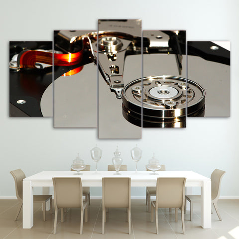 DJ Platter Player 5 Piece Canvas