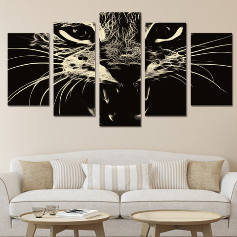 Cat 5 Piece Canvas