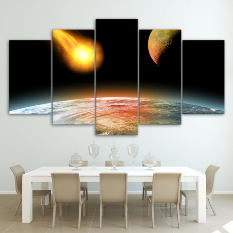 Rock Fall Into the Earth 5 Piece Canvas