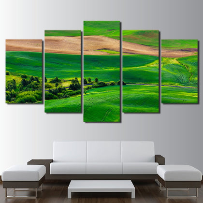 Green Golf Land 5 Piece Canvas