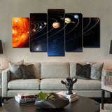 Solar System 5 Piece Canvas