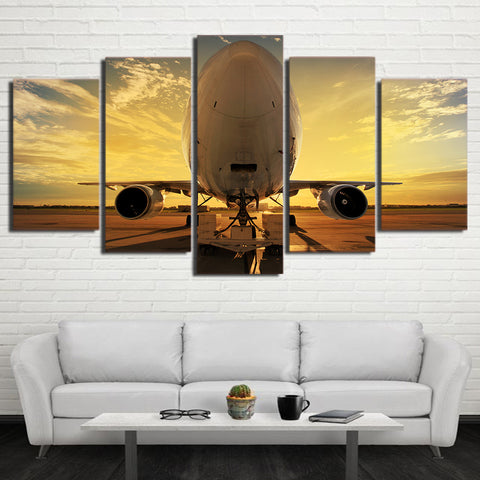 Nose Airplane 5 Piece Canvas