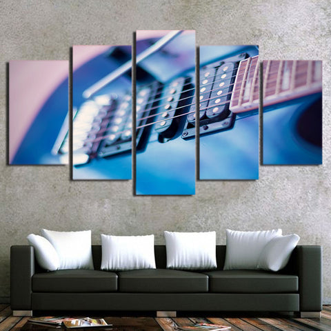 Blue Guitar 5 Piece Canvas