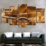 Piano Keys Vintage 5 Piece Canvas