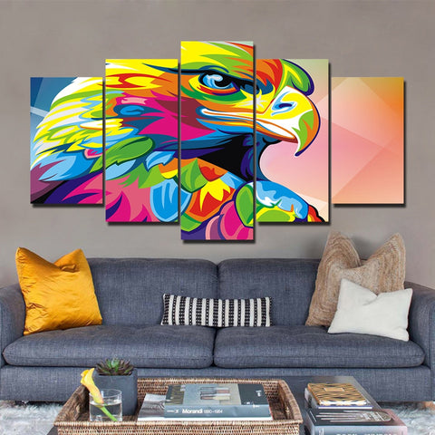 The Eagle 5 Pieces Canvas