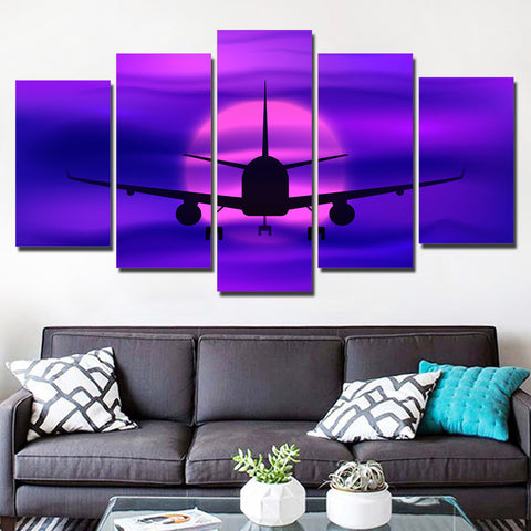 Airplane Take Off 5 Piece Canvas