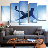 Soccer Sports 5 Piece Canvas