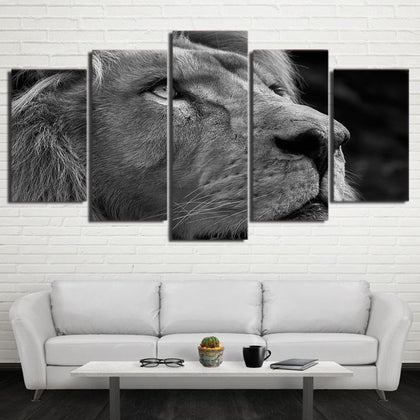 Lion Head 5 Piece Canvas