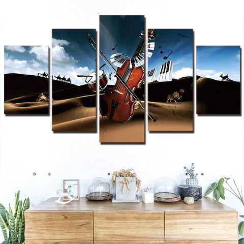 Drum and Violin 5 Piece Canvas