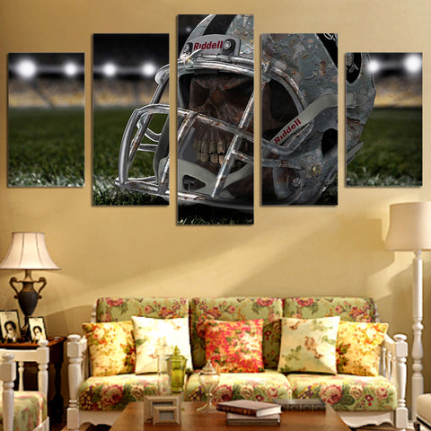 Head Baseball Helmet 5 Piece Canvas