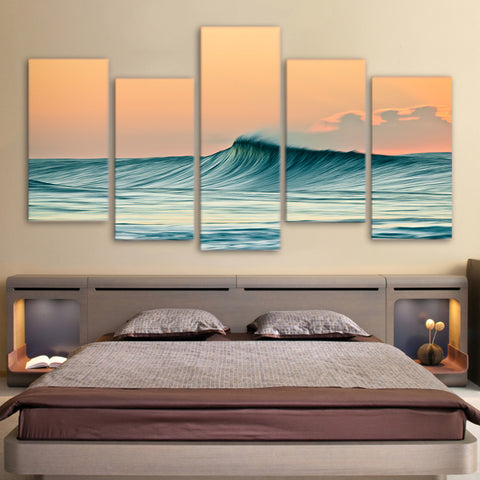 Sea Waves 5 Piece Canvas