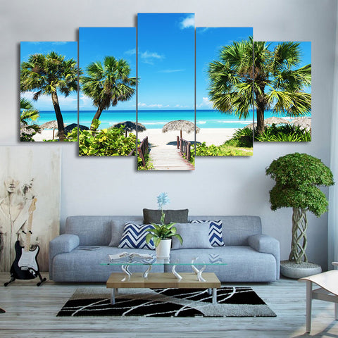 Beach Summer Vacation 5 Piece Canvas